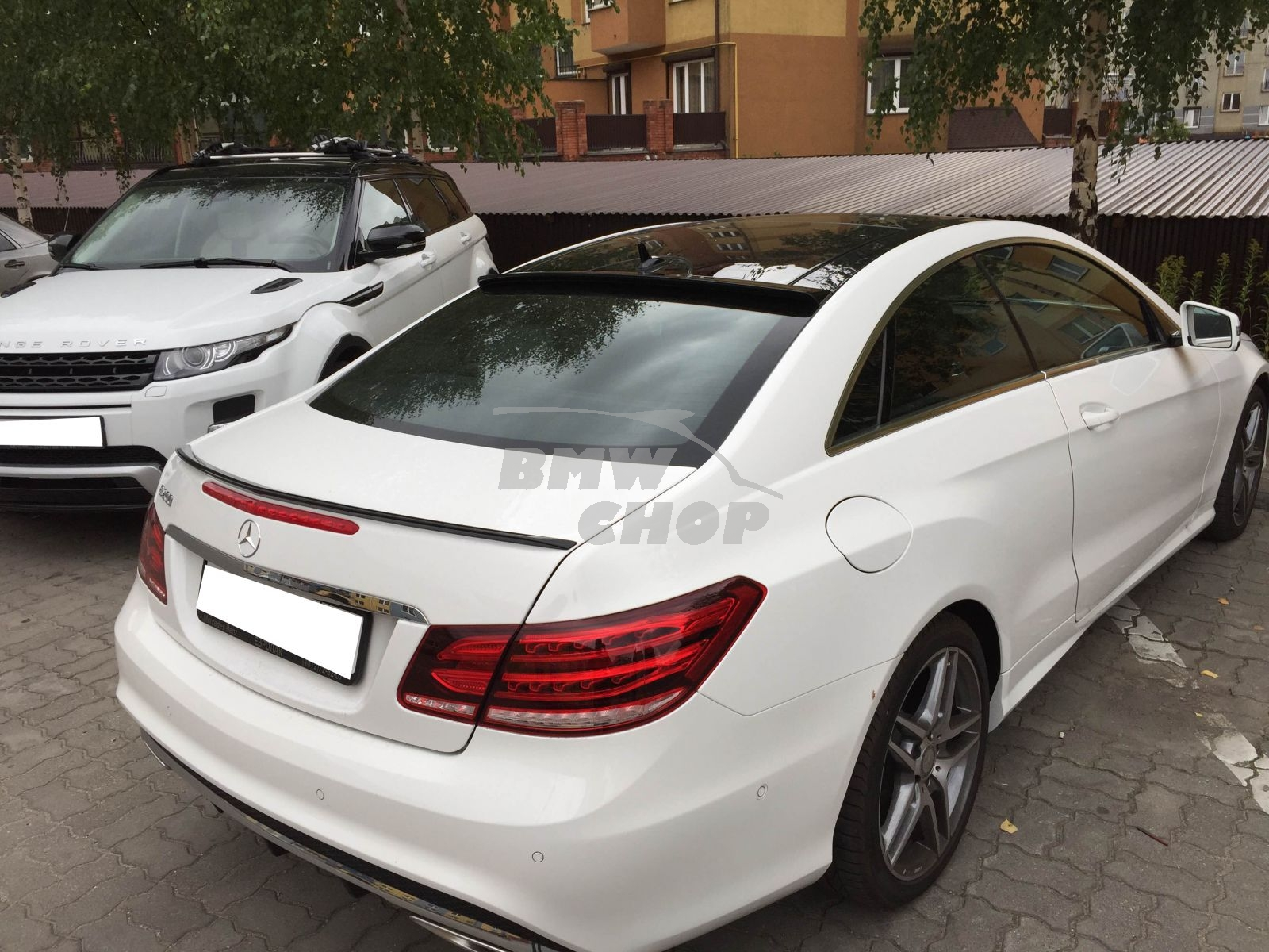 painted mercedes benz c207 e class 2dr coupe rear window