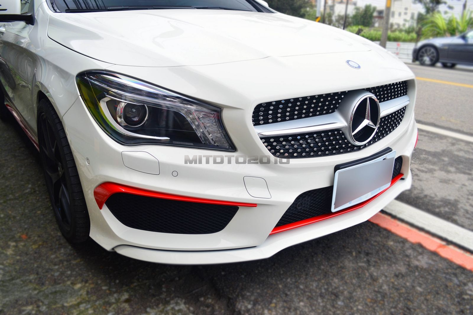 Painted Red Metallic Mercedes Benz Cla250 Cla220 Front