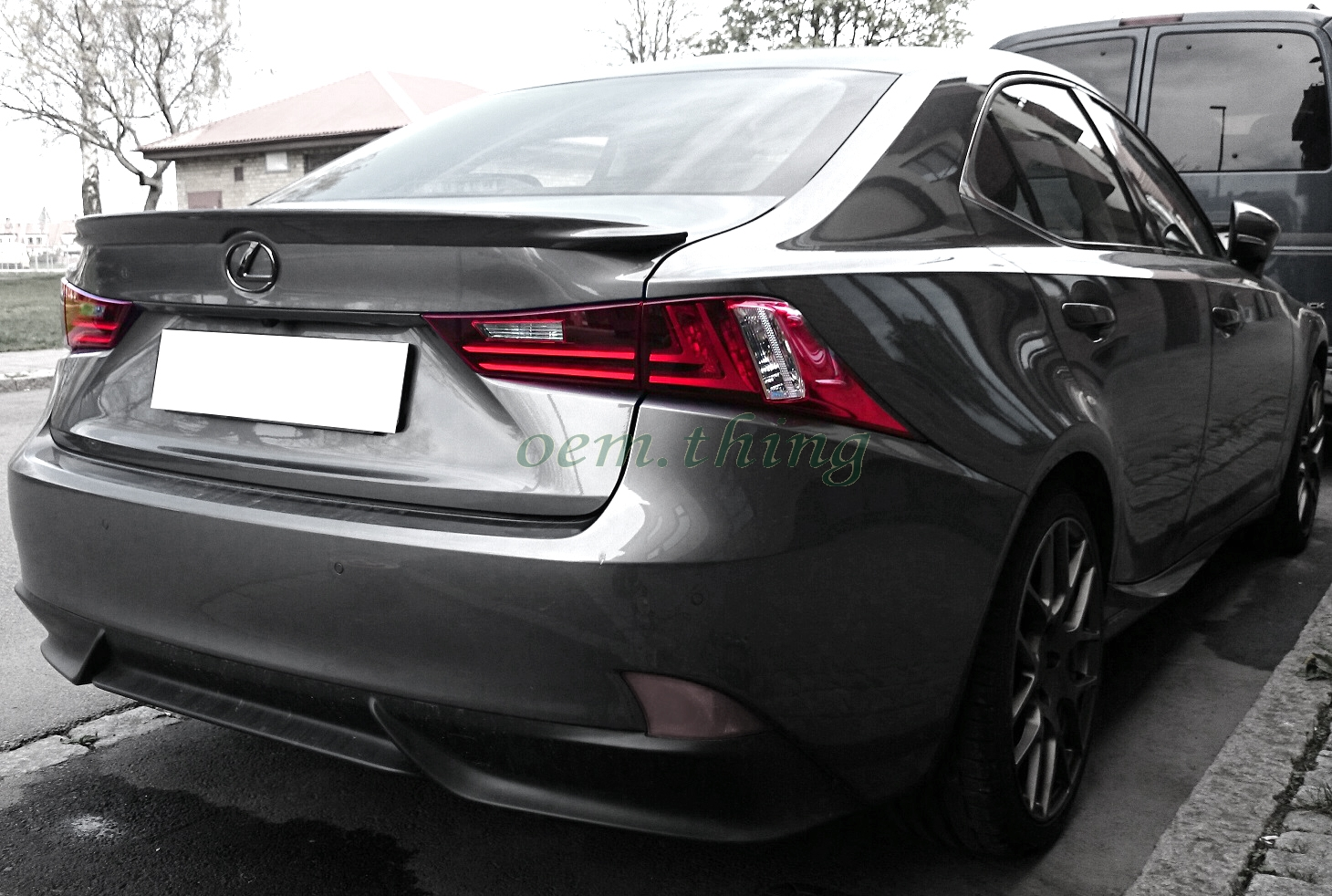 2015 2016 for lexus is250 is350 sport f style trunk spoiler unpainted abs ebay. Black Bedroom Furniture Sets. Home Design Ideas