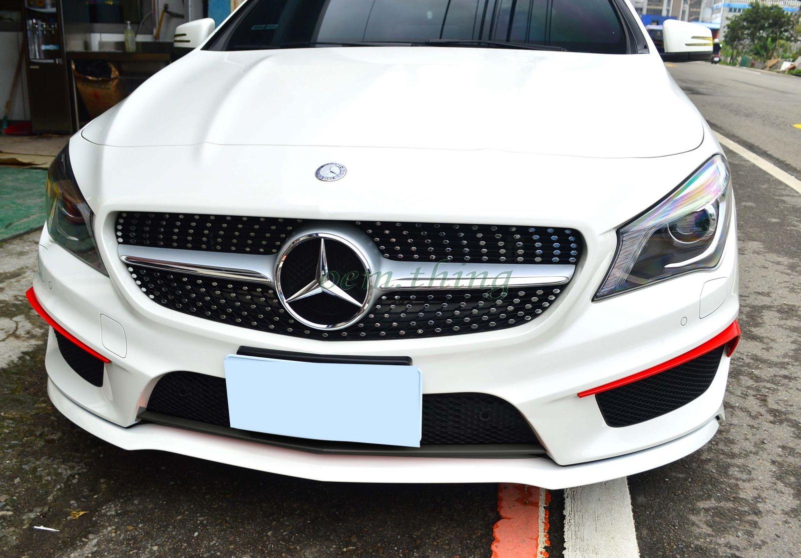Matte black mercedes benz cla w117 front bumper flaps for Mercedes benz front bumper