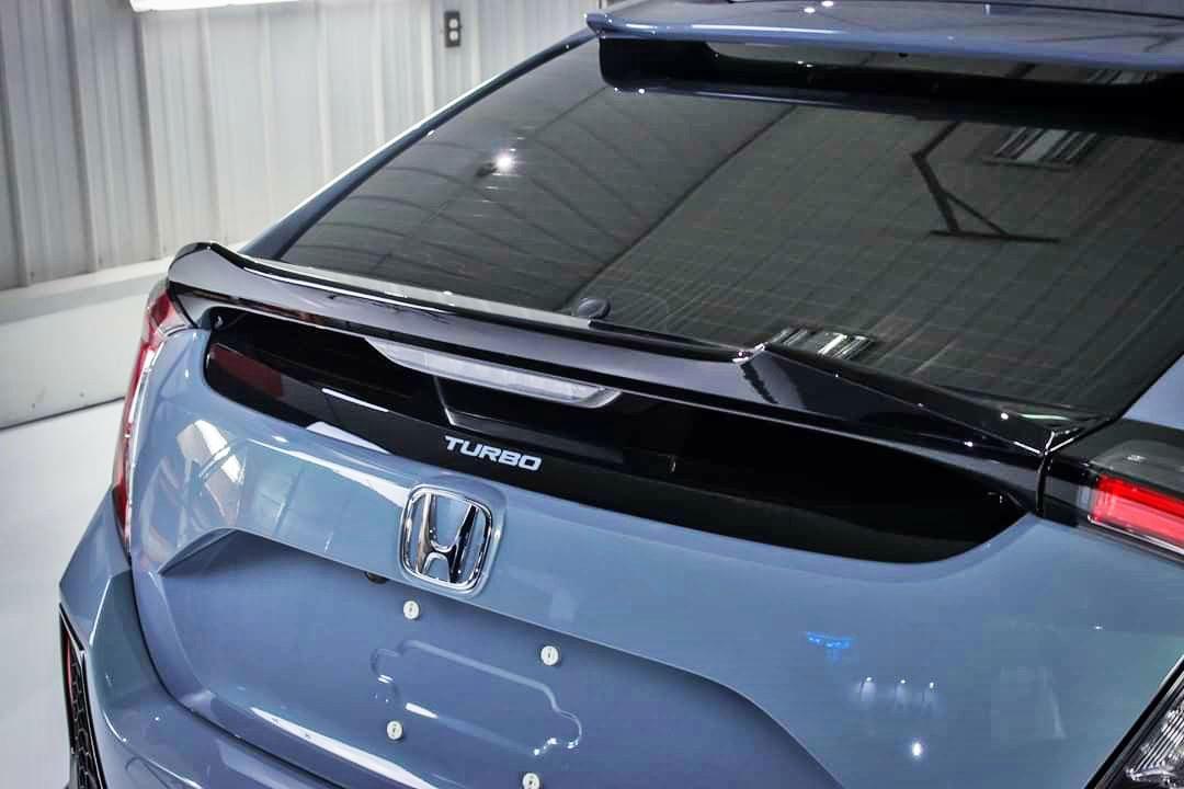 matte black for honda civic 10th x hatchback high dto v