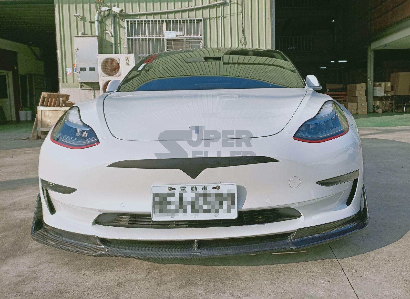 Fit For Tesla Model 3 Model3 Sedan 17-20 Front Bumper Hood ...