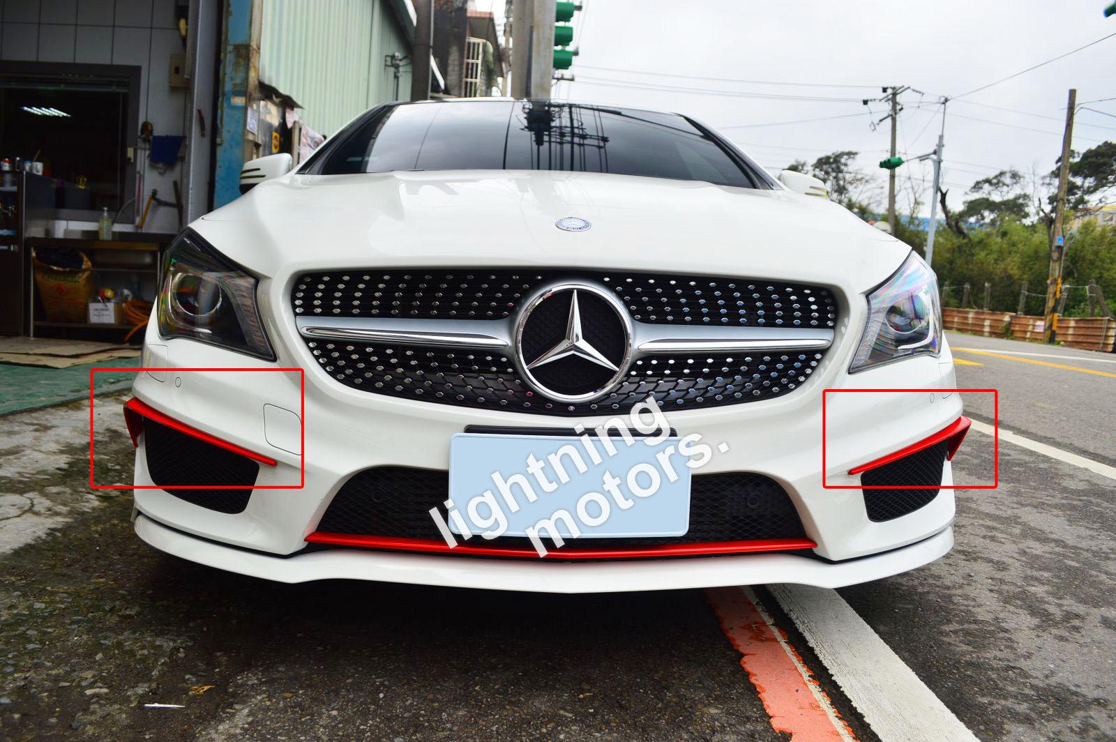 Matte Black For Mercedes Benz Cla C117 W117 4d Front